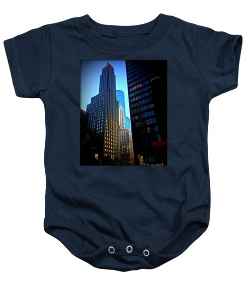 Golden Hour Reflections - City Of Chicago Baby Onesie
