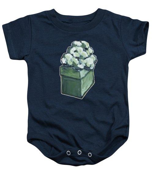 Green Present Baby Onesie