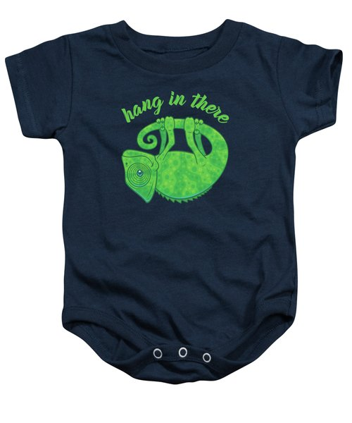 Hang In There Magical Chameleon Baby Onesie