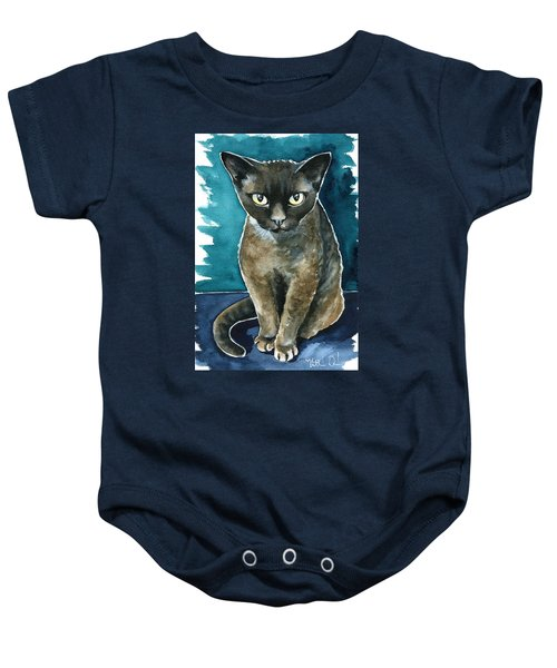 Joey - Devon Rex Cat Painting Baby Onesie