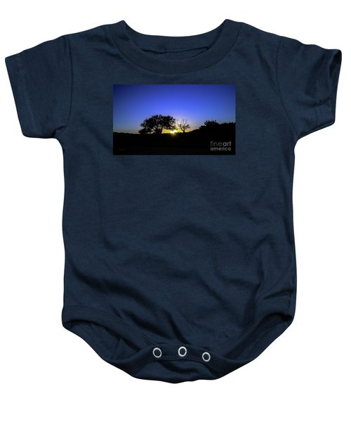 Last Light Texas Hill Country Paradise Canyon Sunset 8053a Baby Onesie