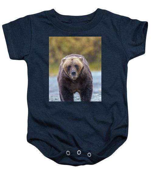 Lazy C Angry Bear  Baby Onesie