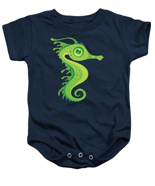 Leafy Sea Dragon Seahorse Baby Onesie