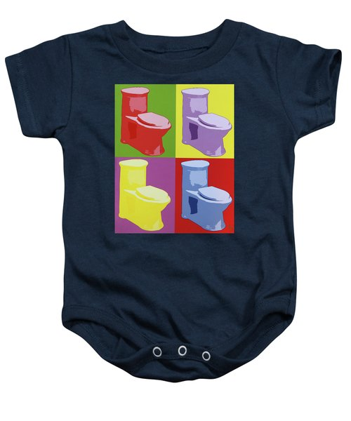 Les Toilettes  Baby Onesie