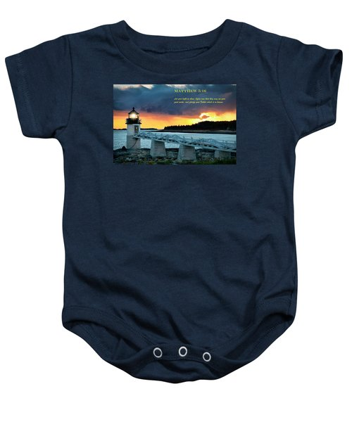 Let Your Light So Shine Baby Onesie