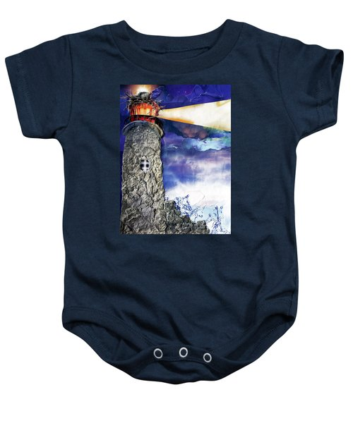 Light Of The World Torn Paper Collage Baby Onesie