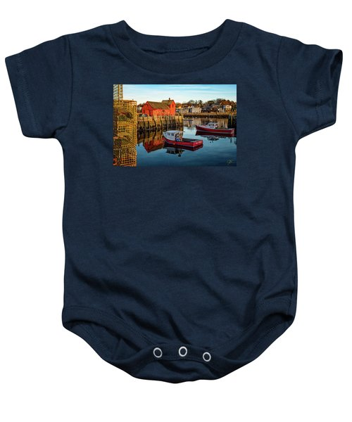 Lobster Traps, Lobster Boats, And Motif #1 Baby Onesie
