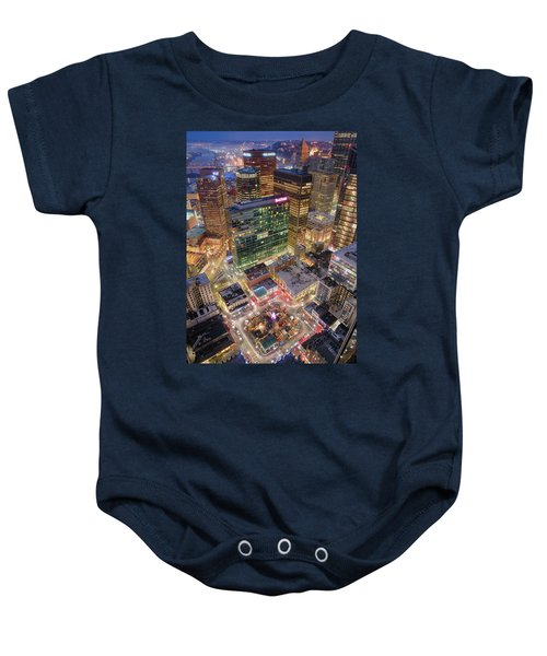 Market Square From Above  Baby Onesie