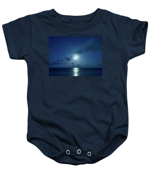 Moonrise Over The Sea Baby Onesie