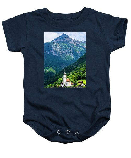 Mountainside Church Baby Onesie