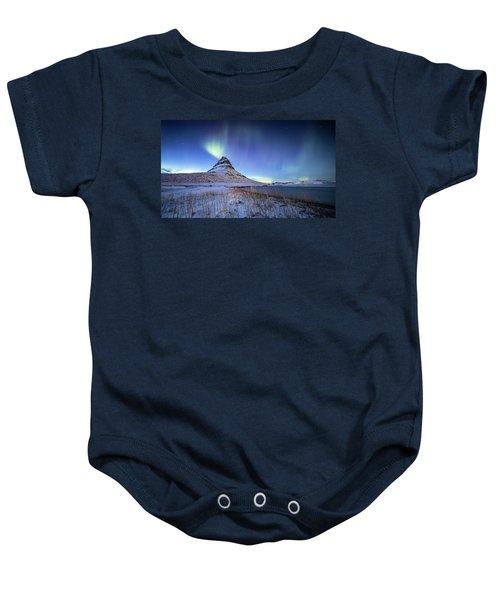 Northern Lights Atop Kirkjufell Iceland Baby Onesie
