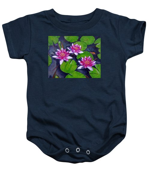 Rancho Water Lilies Baby Onesie
