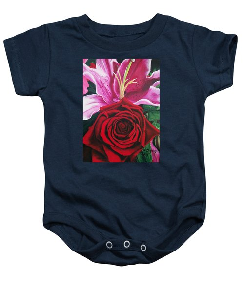 Scarlet Knight And A  Lily  Baby Onesie