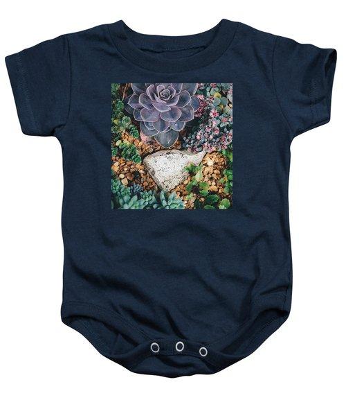 Small Succulent Garden Baby Onesie