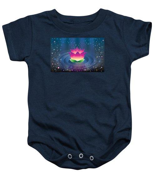 Space Lotus Baby Onesie