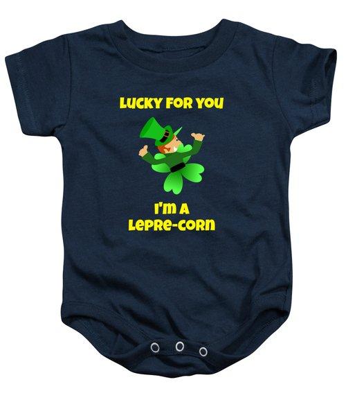 St  Patricks Day Lucky Leprechaun Baby Onesie