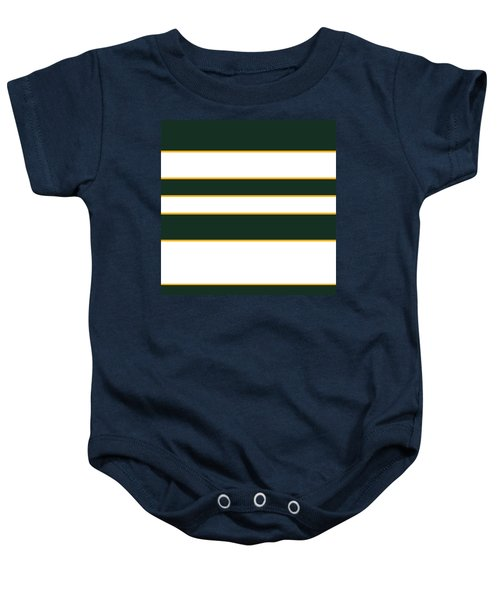 Stacked - Green, White And Yellow Baby Onesie
