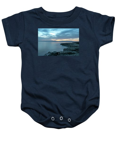 Before Dawn At The Dead Sea Baby Onesie