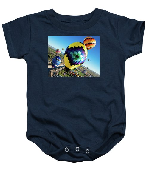 Up, Up, And Away Baby Onesie