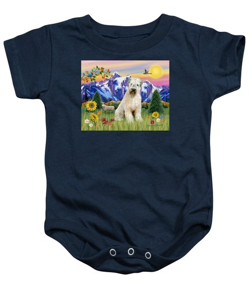 Wheaten Terrier In The Country Baby Onesie