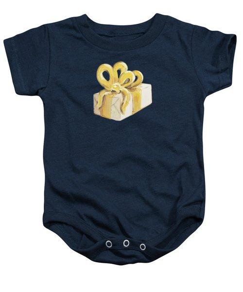 Yellow Present Baby Onesie