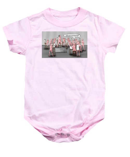 Naked Artists Baby Onesie