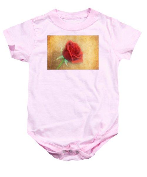 Red Rose  Baby Onesie