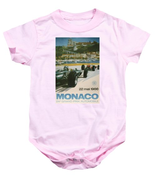 24th Monaco Grand Prix 1966 Baby Onesie