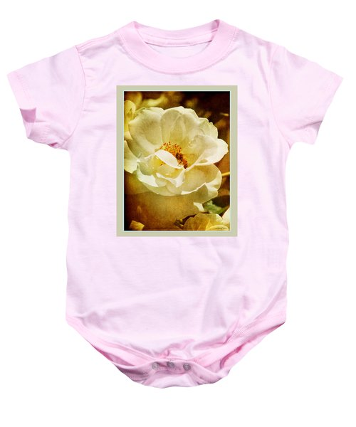 A Bee And Rose Baby Onesie