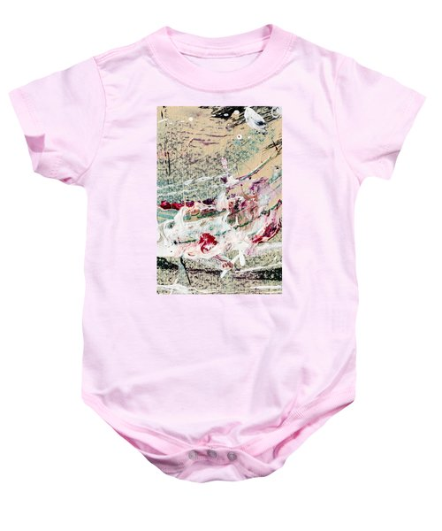 Abstract Original Painting Number Eight Baby Onesie