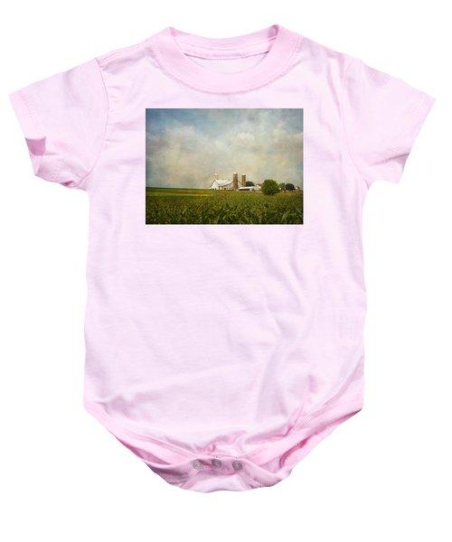 Amish Farmland Baby Onesie
