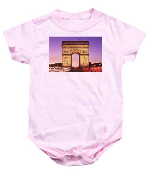 Arc De Triomphe Facade / Paris Baby Onesie