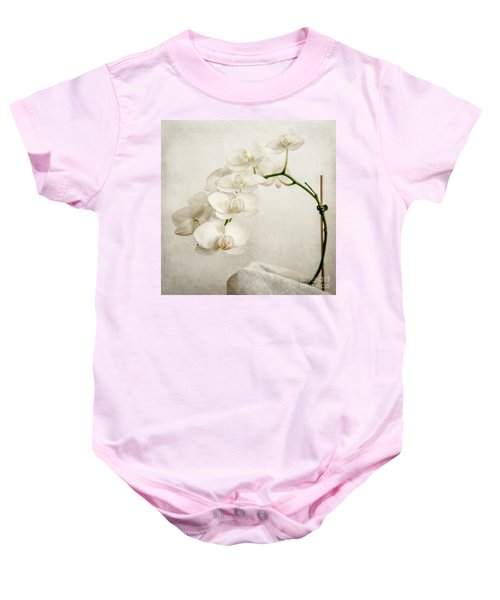 Beautiful White Orchid II Baby Onesie