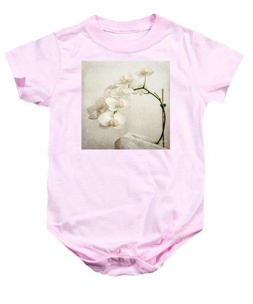 Beautiful White Orchid II Baby Onesie