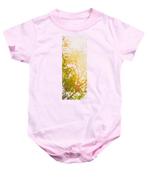 Beneath A Tree  14 5199   Diptych  Set 1 Of 2 Baby Onesie
