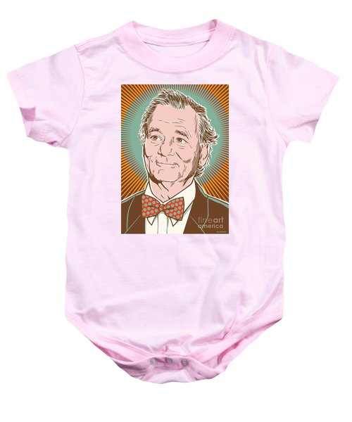 Bill Murray Pop Art Baby Onesie by Jim Zahniser