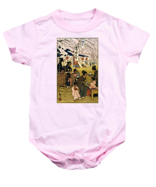 Blossom Time In Tokyo Baby Onesie