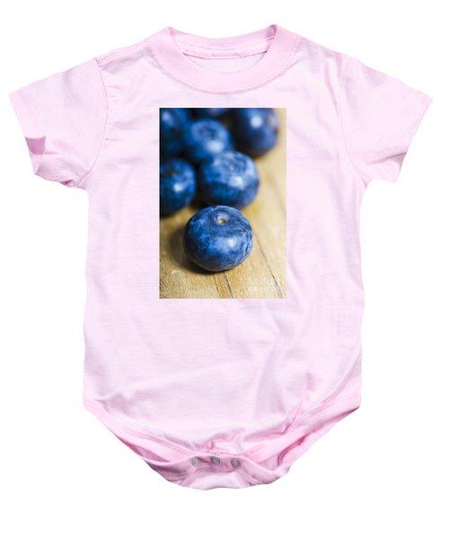 Blueberry Macro Baby Onesie