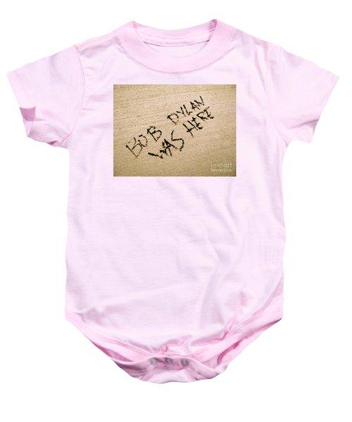 Bob Dylan Graffiti Baby Onesie