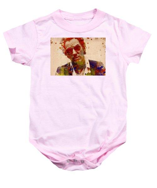 Bruce Springsteen Baby Onesie by Bekim Art