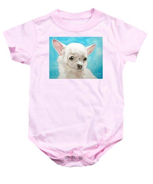 Chihuahua Dog White Baby Onesie