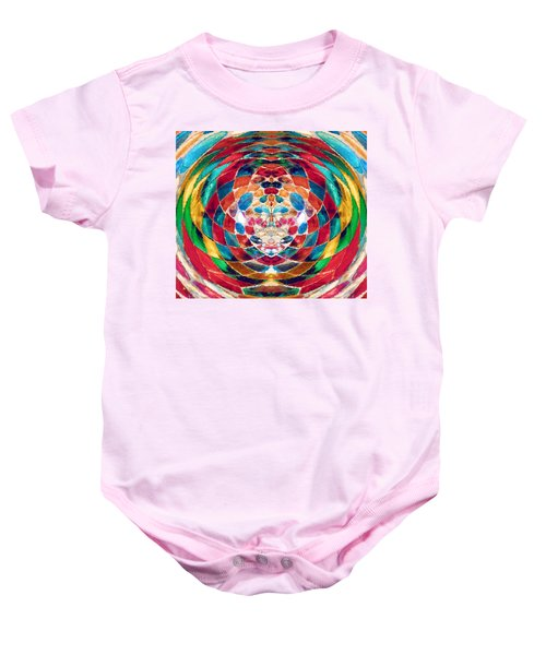 Colorful Mosaic Baby Onesie