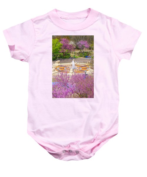 Coolidge Park Fountain In Spring Baby Onesie