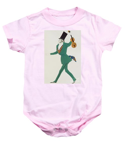 Costume Design For Paganini In The Enchanted Night Baby Onesie