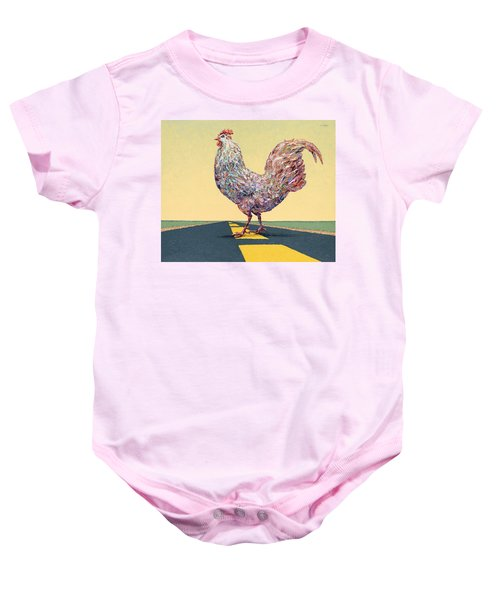 Crossing Chicken Baby Onesie
