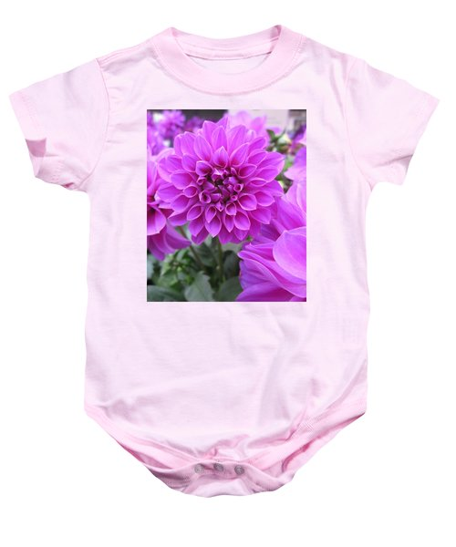Dahlia In Pink Baby Onesie
