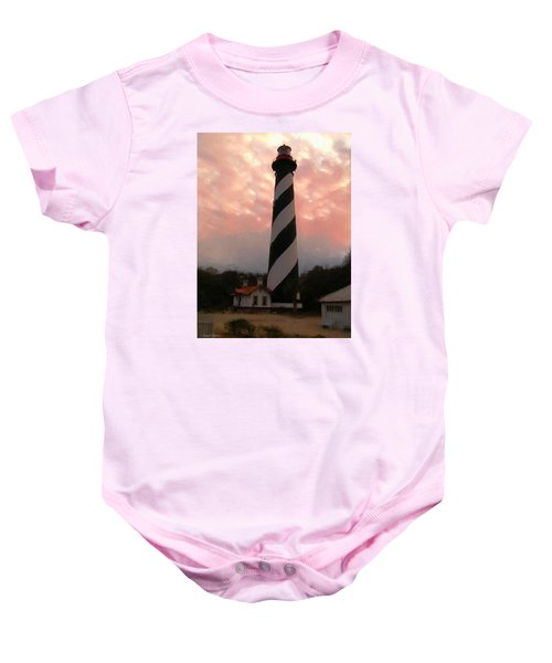 Da127 St. Augustine Lighthouse By Daniel Adams Baby Onesie