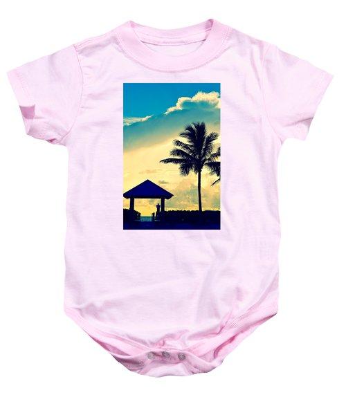 Dawn Beach Pyramid Baby Onesie