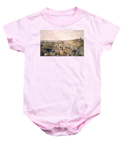 Ditch Of The Bastion Du Mat, Plate Baby Onesie