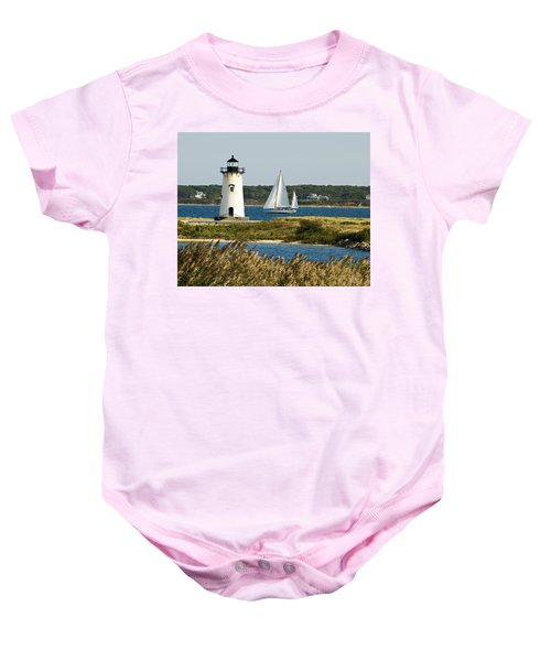 Edgartown Light At Martha's Vineyard Baby Onesie